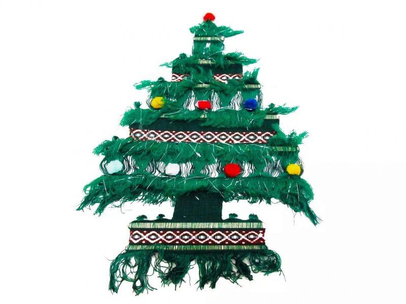 Enfeite De Natal Para Porta - Árvore 60 Cm